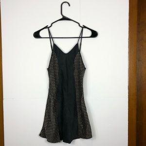 Other - Vintage 100% silk black polka dot slip Sz S